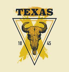 Texas buffalo tee print graphic vector