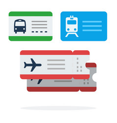 tickets for public transport flat isolated on vector image