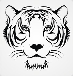Tribal tiger head vector