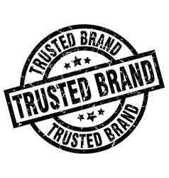 Trusted brand round grunge black stamp vector