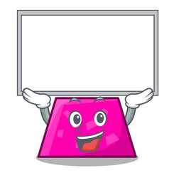 Up board trapezoid character cartoon style vector