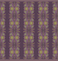 vintage ethnic seamless flower pattern vector image