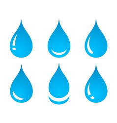 Water drop set icons vector