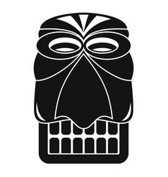Wood tiki idol icon simple style vector