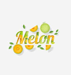 Word melon design vector