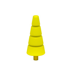 Yellow tree in plastic design vector