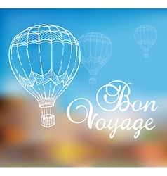 Background with air balloon vector image vector image
