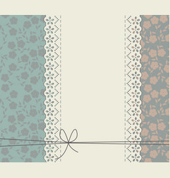 decorative lace frame with flowers vector image vector image