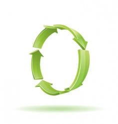 3d arrows recycle symbol vector image vector image