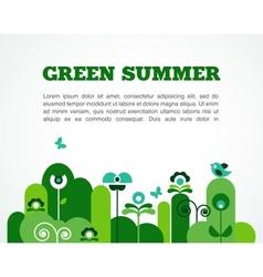 abstract garden summer time vector image vector image