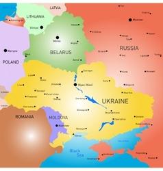 Belarus and ukraine country vector