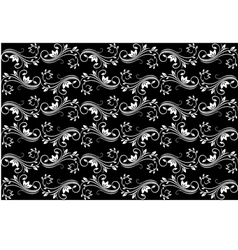 Black seamless background vector image