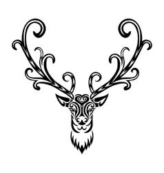 Creative art icon stylized deer vector image vector image