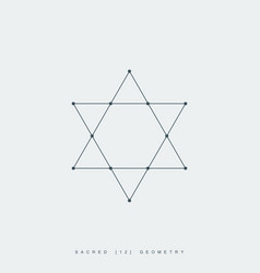 sacred geometry david star vector image vector image
