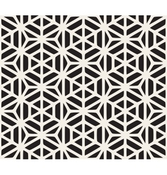 Seamless Black And White Geometric Hexagon vector image