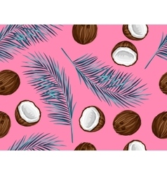 Seamless pattern with coconuts Tropical abstract vector image