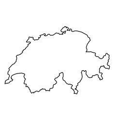 switzerland map of black contour curves of vector image vector image
