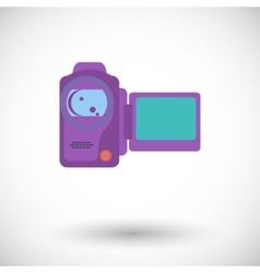 Video camera single icon vector image