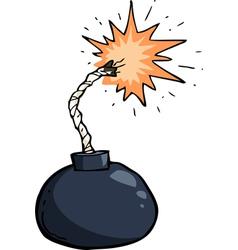 broken winded bomb vector image vector image