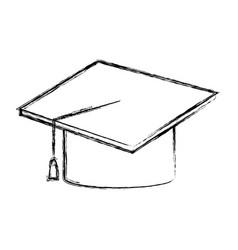 graduation hat accessory degree celebration vector image vector image