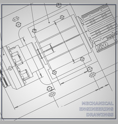 Mechanical engineering drawing gray background vector