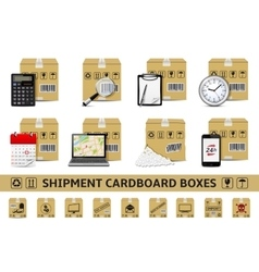 Shipment cardboard boxes vector image vector image