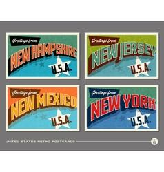United States vintage postcards vector image vector image