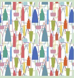 cosmetics bottle pattern vector image
