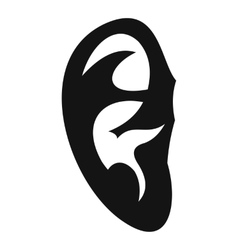 Ear icon simple style vector image