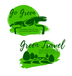 ecotourism and go green symbol for travel design vector image