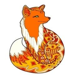 Fox with fantasy ornament vector image vector image