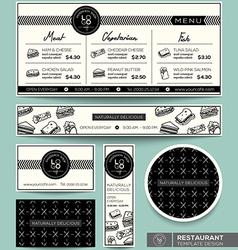 Restaurant set menu graphic design template vector