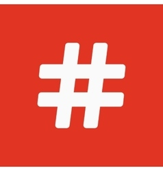 The hash icon Hashtag symbol Flat vector image