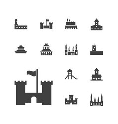 13 historical icons vector