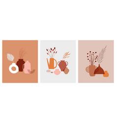 abstract bohemian art aesthetic design vector image