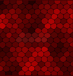 abstract mosaic red stone on a black background vector image
