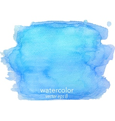 Abstract watercolor hand paint blue texture vector image