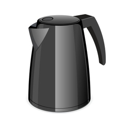An isolated black electric tea kettle vector image