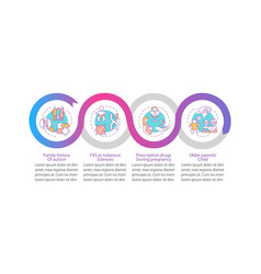Asd risk factors infographic template vector