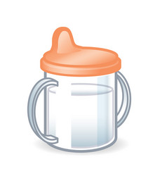 babies sippy sipper cup bottle vector image