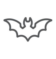 bat line icon animal and halloween dracula sign vector image