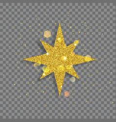 big shiny star vector image