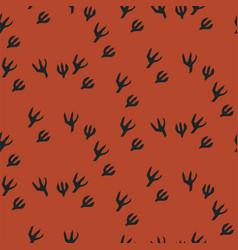 bird animal footprint seamless pattern vector image