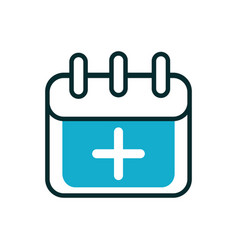 Calendar date reminder equipment medical icon line vector