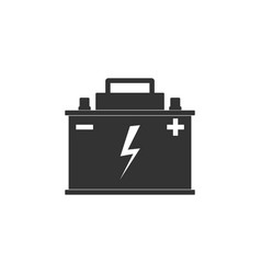car battery icon isolated accumulator battery vector image