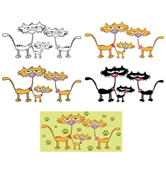 Cartoon cat design vector