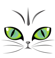 Cat eyes logo vector image vector image