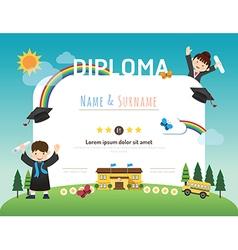 kindergarten diploma vector images over 280