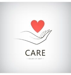 Charity medical care help logo icon vector