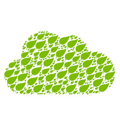 cloud figure of herbal leaf icons vector image